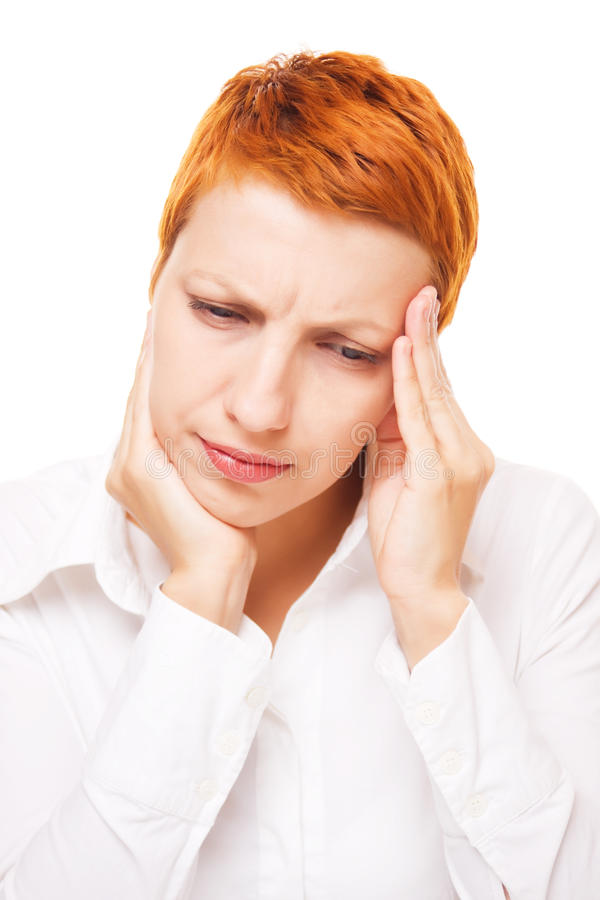 Download Woman with headache stock photo. Image of depressed, pain - 18842070