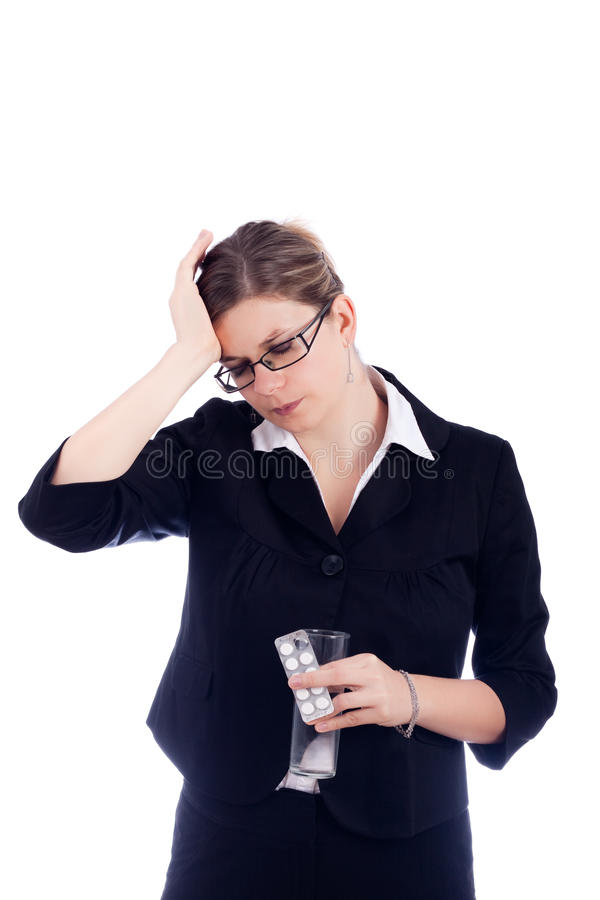 Woman Headache Royalty Free Stock Photography