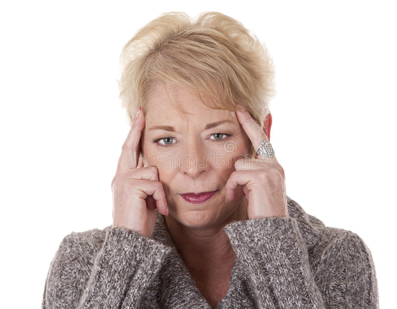 Download Woman with headache stock image. Image of hand, adult - 26612191