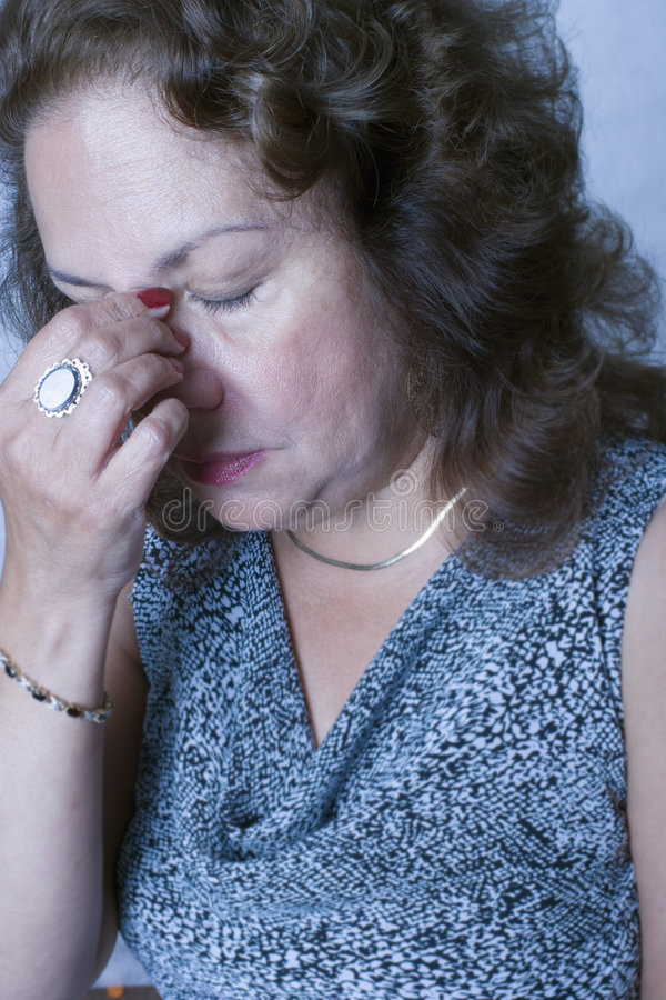 Download Woman with a headache stock image. Image of head, single - 8991995