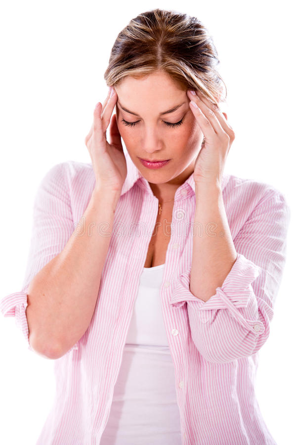 Download Woman with a headache stock photo. Image of troubled - 32659752