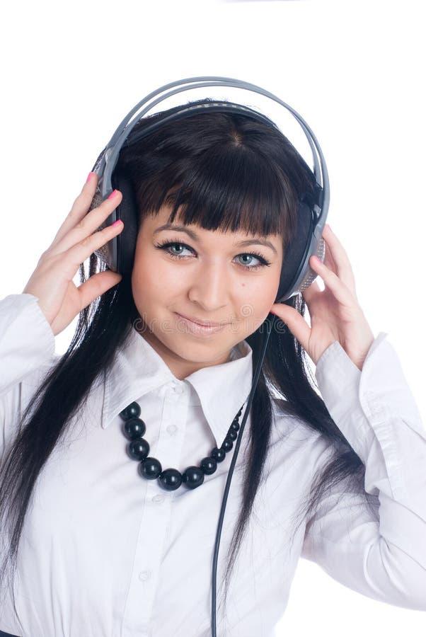 Download Woman with headphones stock image. Image of people, listen - 13824045