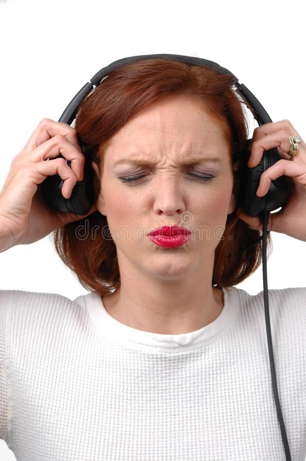 Woman With Headphones Listening Loud To Music Free Stock Photos