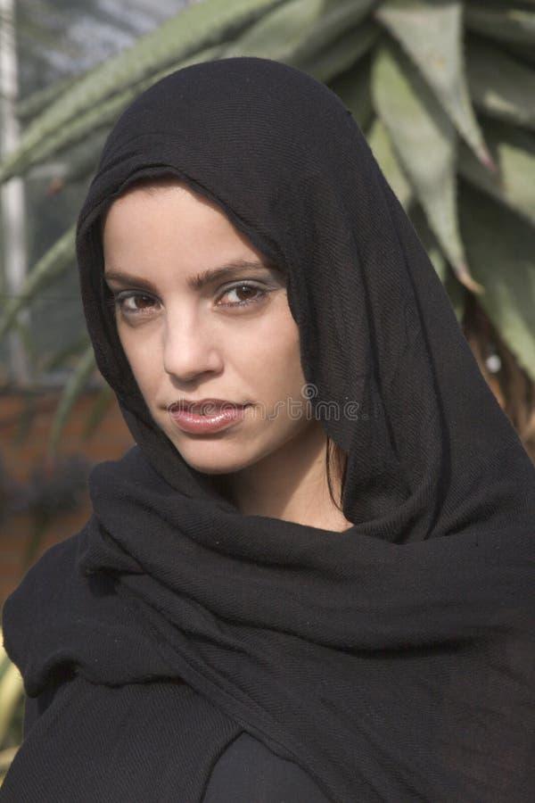Woman in headscarf stock photos