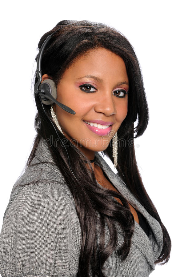 Download Woman With Headset Stock Photos - Image: 10606533