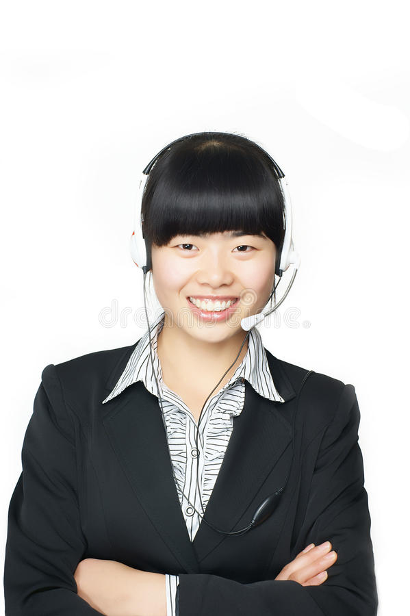 Download Woman With A Headset. Stock Photography - Image: 22084762