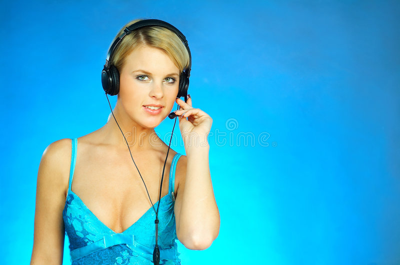 Download Woman With A Headset Stock Images - Image: 511894