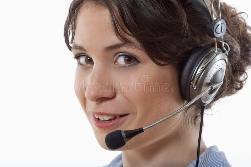 Download Woman with headset stock image. Image of communication - 9539897