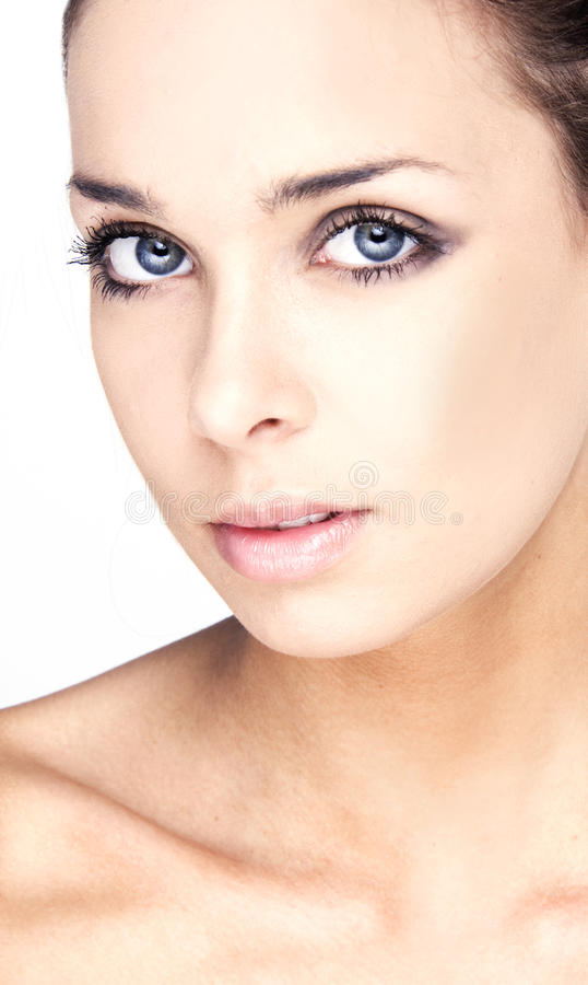 Woman with health skin of face stock images
