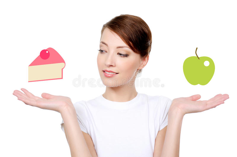 Woman with healthy eating concept royalty free stock photos
