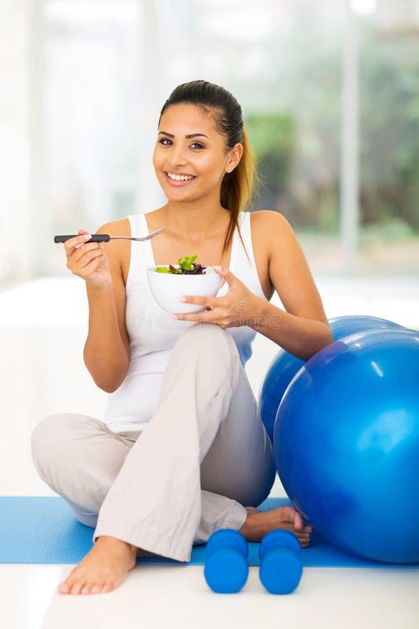Woman healthy salad stock photo