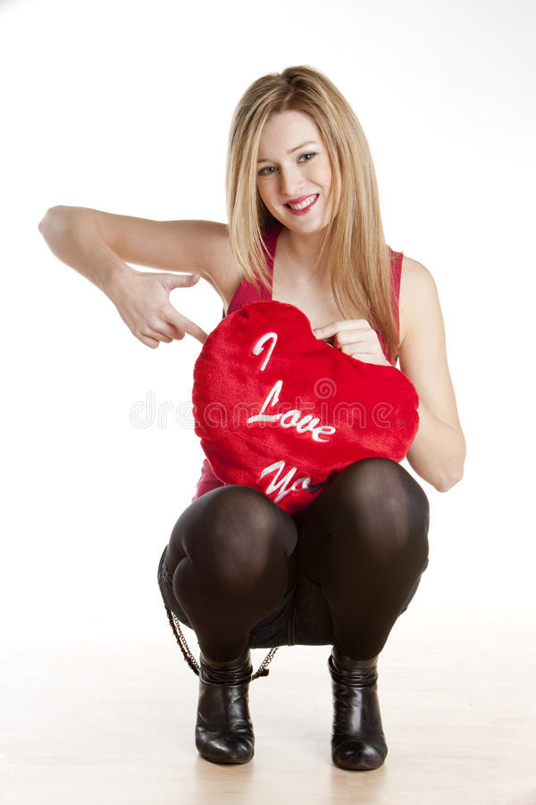 Download Woman with heart stock image. Image of fair, gift, expression - 12212549
