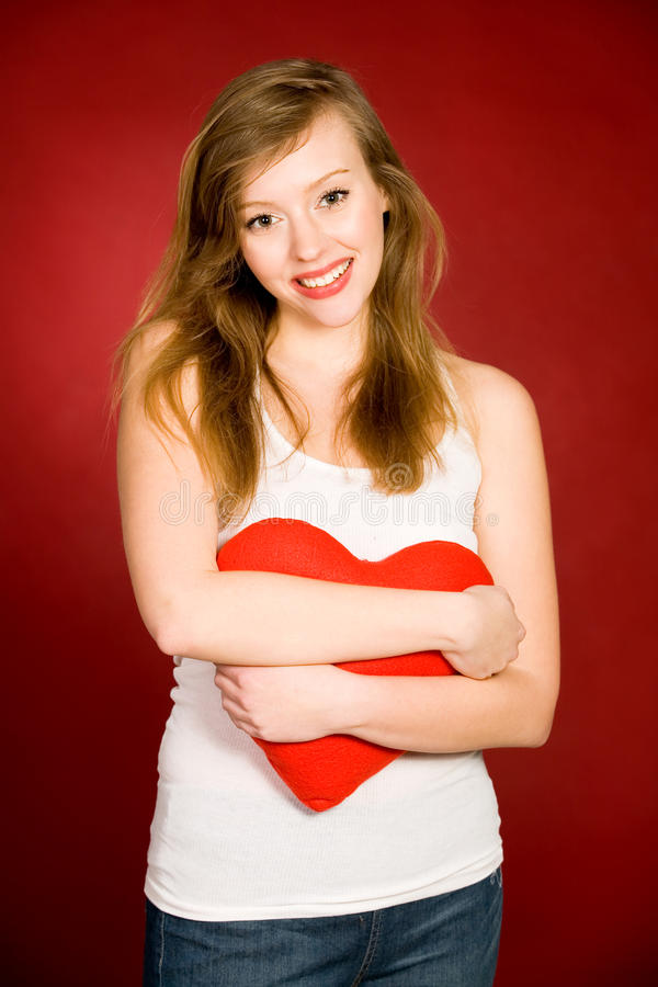 Woman With Heart Stock Image