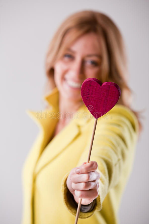 Woman heart dating and love royalty free stock photos