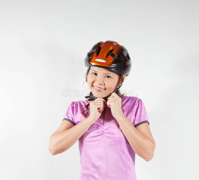 Download Woman in helmet stock image. Image of lifestyle, clothes - 31878945