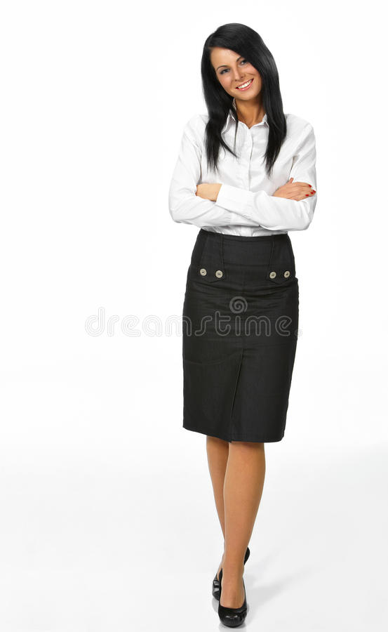 Download Woman With Her Arm Out In A Welcoming Gesture Stock Photo - Image: 14445902