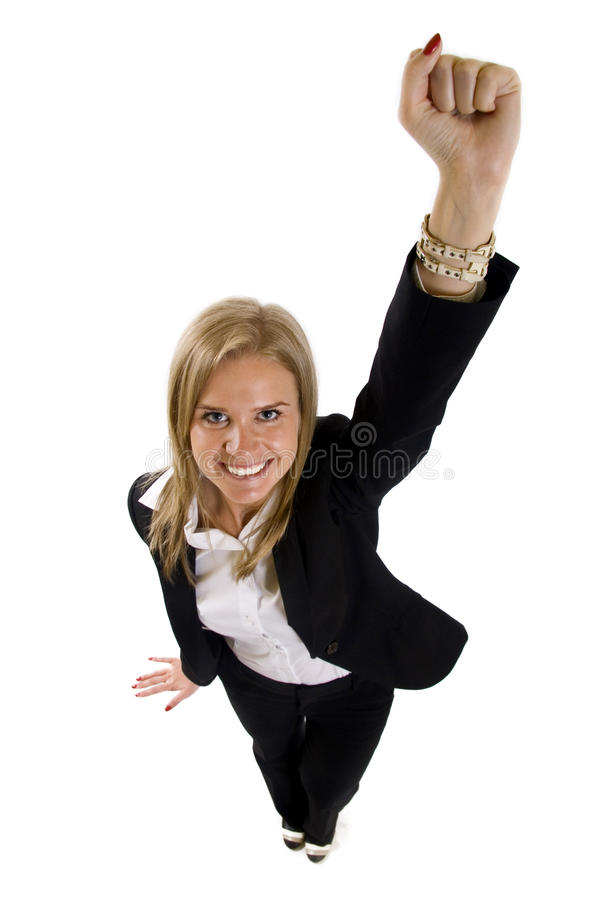 Woman With Her Arms In The Air Royalty Free Stock Photos