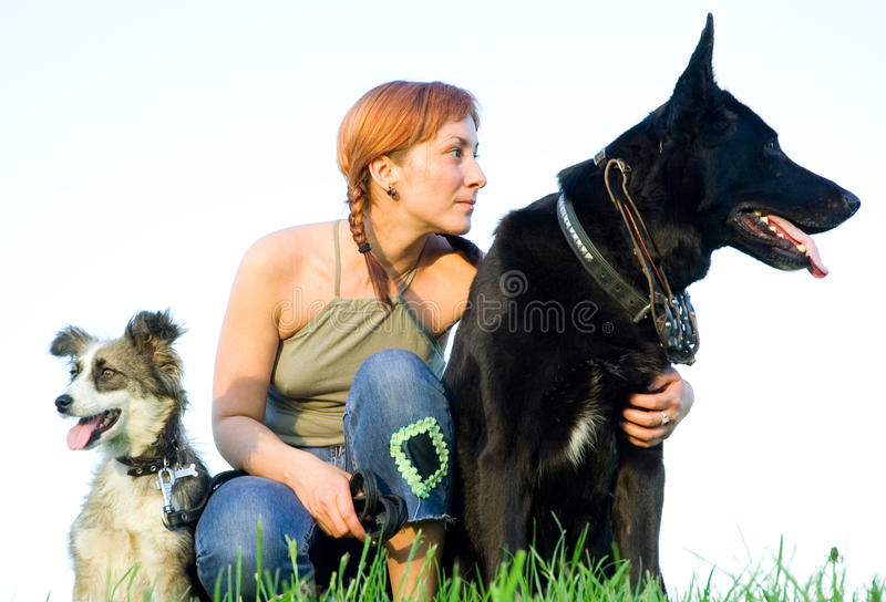 Download Woman with her dog stock photo. Image of face, people - 19609774