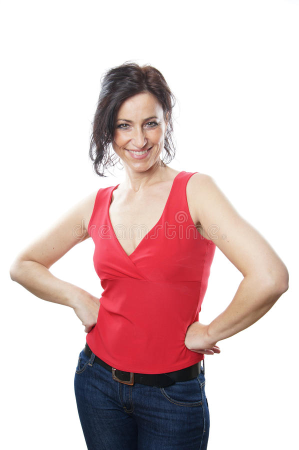 Download Woman in her forties stock photo. Image of studio, single - 29750140