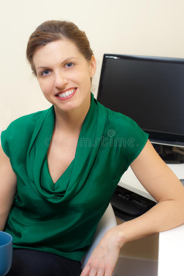 Download Woman in her home office stock image. Image of adult - 23159693
