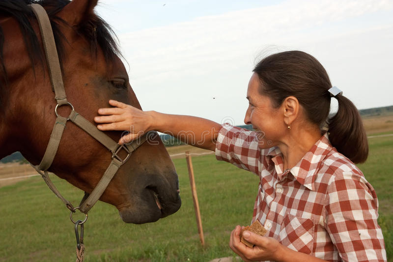 Download Woman  With Her Horse Stock Image - Image: 24845621