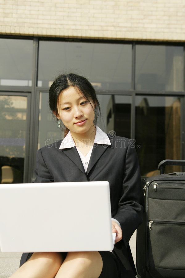 Download Woman with her laptop stock image. Image of meeting, executive - 5125407