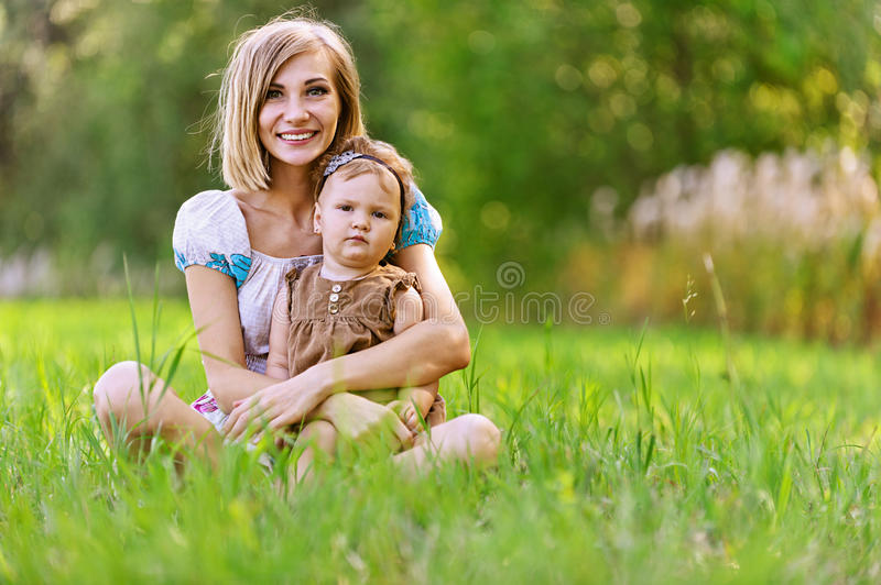 Download Woman And Her Little Daughter Stock Image - Image of beautiful, little: 26037013