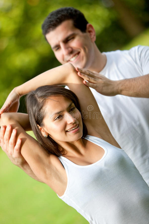 Download Woman And Her Sports Trainer Stock Image - Image: 16137511