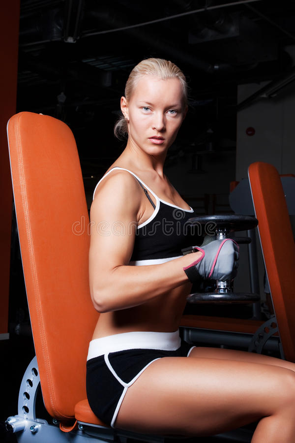 Download Woman during her training stock photo. Image of body - 13314240