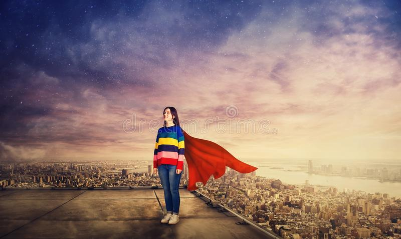 Woman hero royalty free stock photos