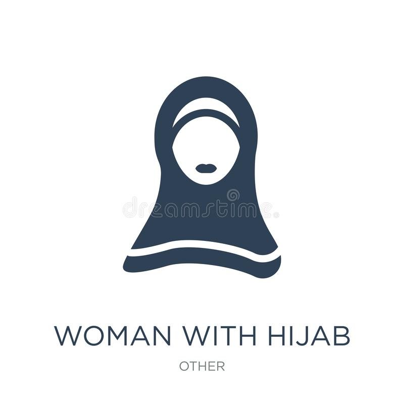 woman with hijab icon in trendy design style. woman with hijab icon isolated on white background. woman with hijab vector icon stock illustration