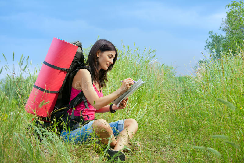 Download Woman hiker stock photo. Image of lifestyle, spring, green - 23582396
