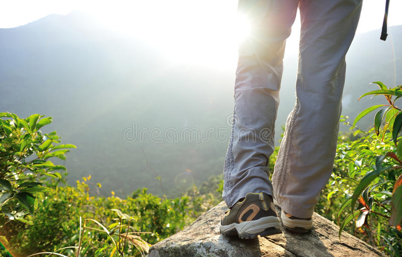 Download Woman Hiker Hiking Stand On Cliff Stock Photo - Image of being, chinese: 47615912