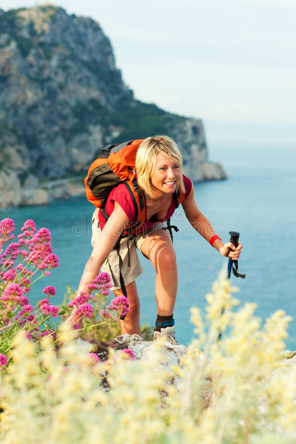 Download Woman hiking stock image. Image of blonde, leisure, adventure - 9543037