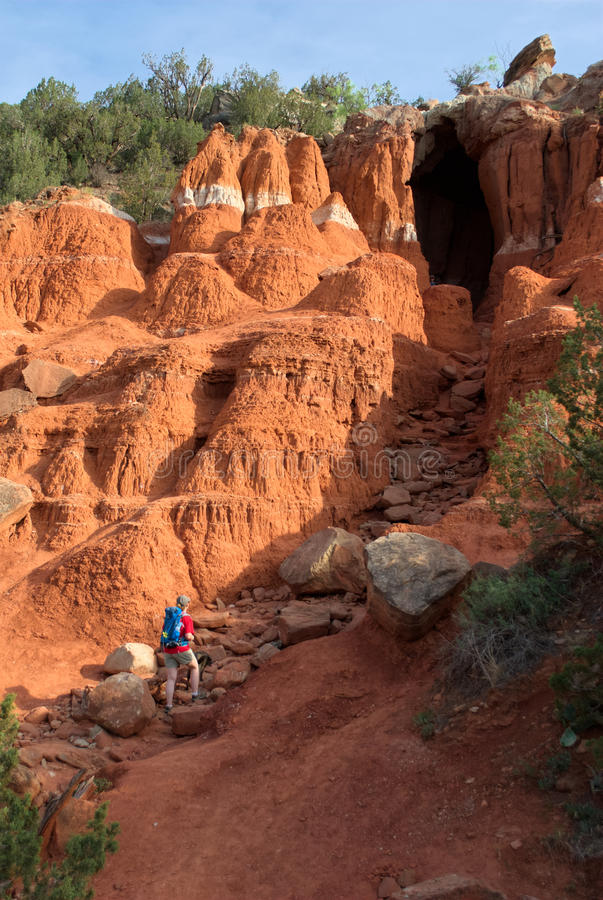 Woman Hiking in Palo Duro royalty free stock photo