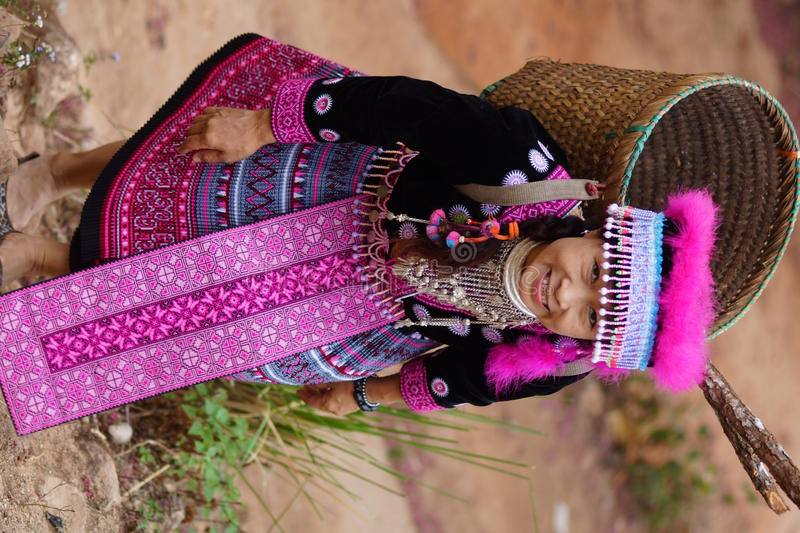 Download Woman in hill tribe dress stock image. Image of diversity - 27702533