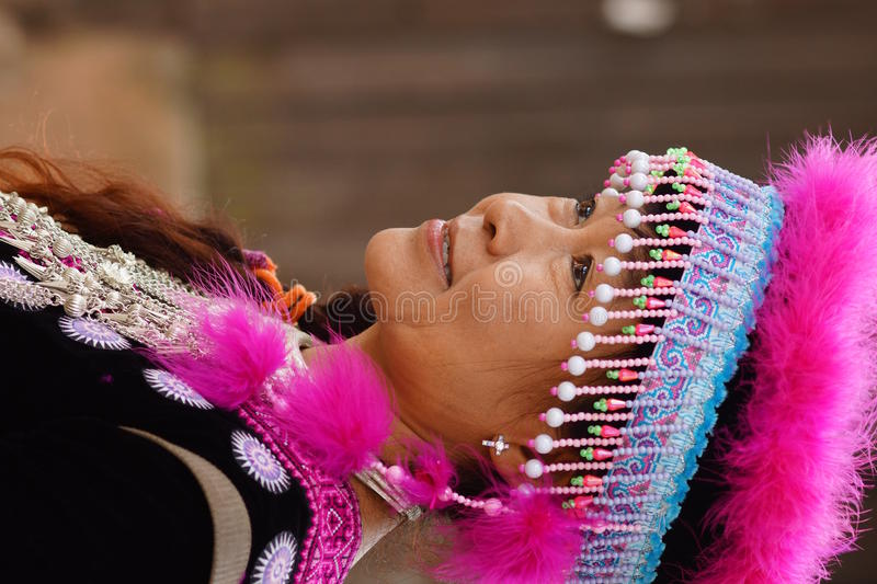 Download Woman in hill tribe dress stock photo. Image of tribe - 27702554