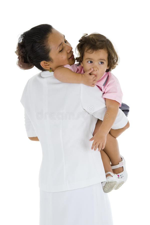 Free Woman Holding A Cute Girl Stock Photography - 14500352