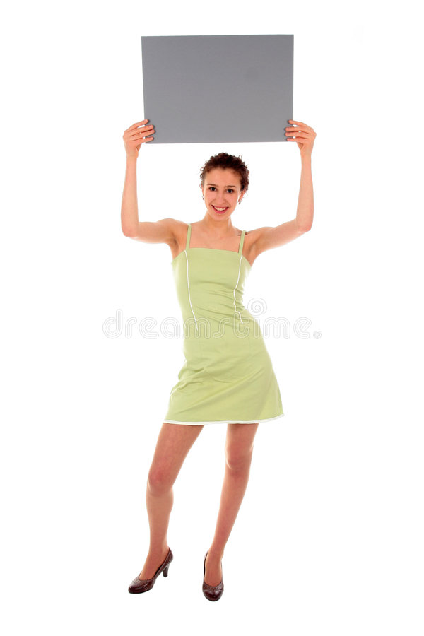 Download Woman Holding Blank Sign Royalty Free Stock Images - Image: 2020219