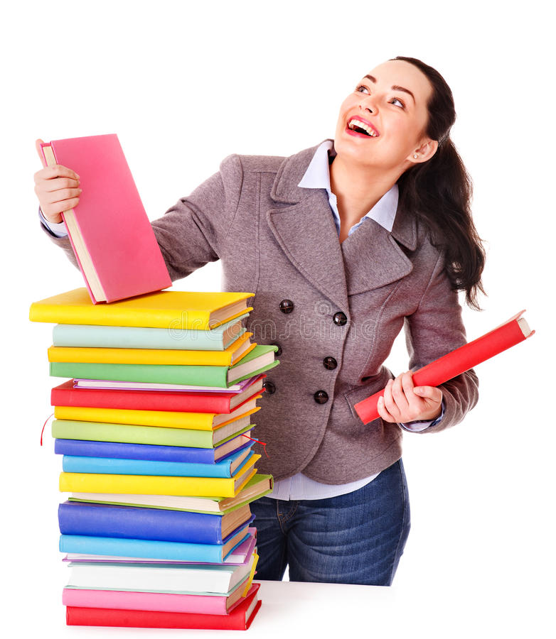 Download Woman holding book. stock photo. Image of cheerful, caucasian - 24459314