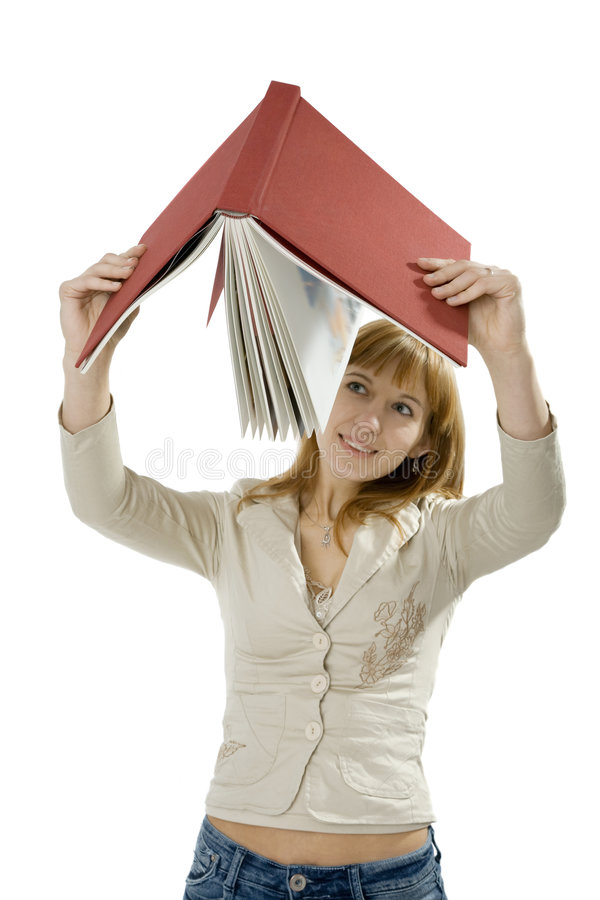 Free Woman Holding Book Stock Photography - 3464242