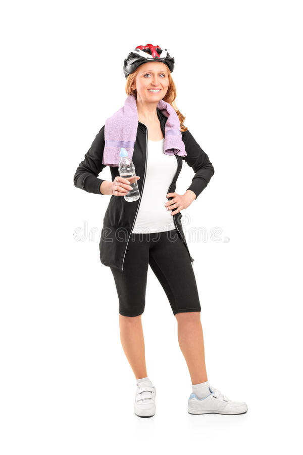 Download Woman Holding A Bottle Of Water After Stock Photo - Image: 25910062
