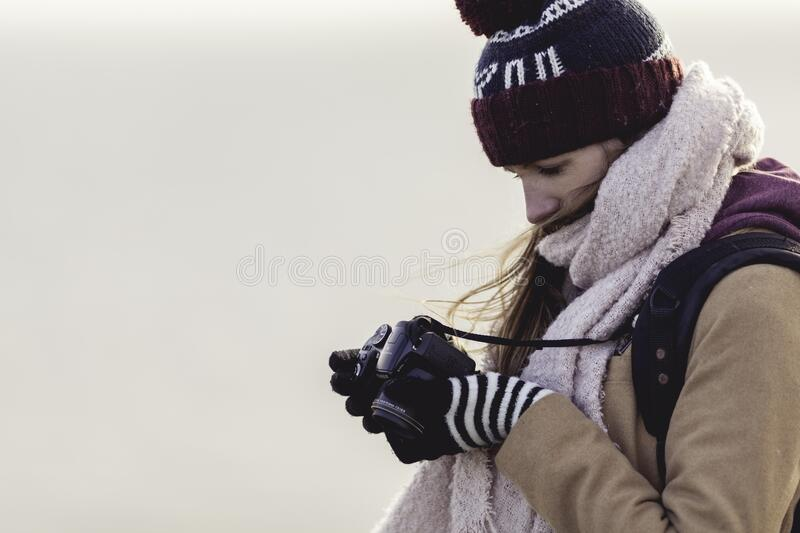 Woman Holding Camera Free Public Domain Cc0 Image