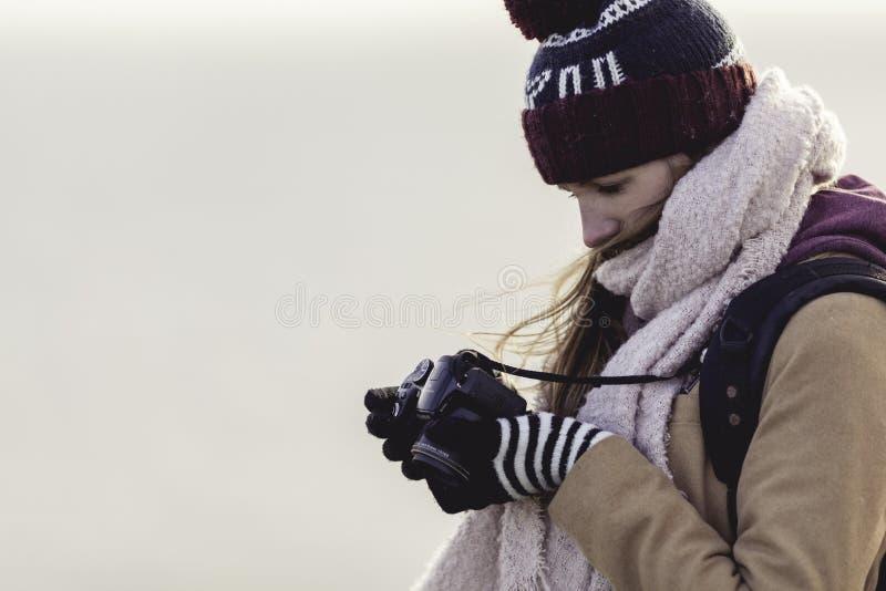 Woman Holding Camera Free Public Domain Cc0 Image