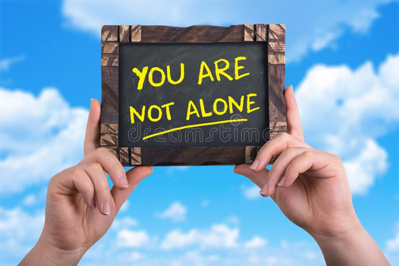You are not alone royalty free stock photography