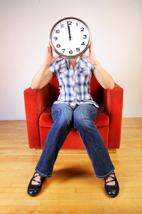 Download Woman holding a clock stock image. Image of lunch, future - 23470999