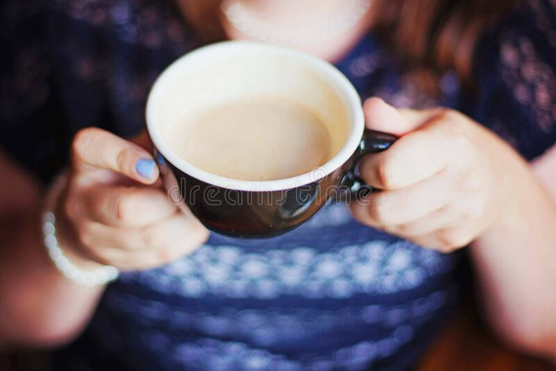 Woman Holding Coffee Cup Free Public Domain Cc0 Image