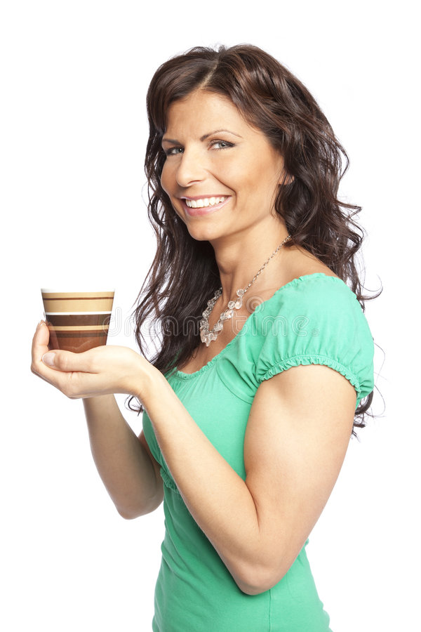 Download Woman holding coffee cup stock photo. Image of caucasian - 8725068