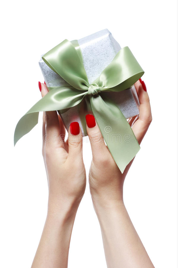 Download Woman Holding Gift Box stock photo. Image of hands, female - 28609684