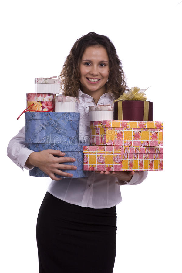 Download Woman Holding Gift Box For Christmas Stock Photo - Image of person, celebration: 11688336
